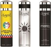 Sapil SPORT ITALIA LUMIO(M) MERCI(M)COMBO SET OF 3PCS Body Spray  -  For Men (200 Ml)