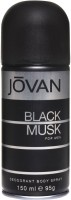 Jovan Black Musk Deodorant Spray  -  150 ml: Deodorant