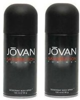 Jovan Satisfaction Deodorant Spray (Pack Of 2) Body Mist  -  For Men (300 Ml)