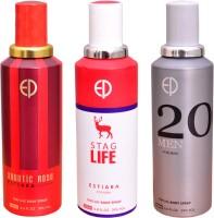ESTIARA 1 AQUATIC ROSE::1 STAG LIFE::1 20 MEN Deodorant Spray  -  For Men, Women (600 Ml)