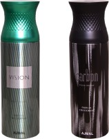 AJMAL 1 VISION::1 CARBON Deodorant Spray  -  For Women (400 Ml)