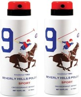 Beverly Hills Polo Club Combo Deodorants No.9X9 Body Spray  -  For Men (350 Ml)