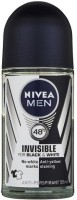 Nivea Invisible For Black And White Deodorant Roll-on  -  For Men (50 Ml)