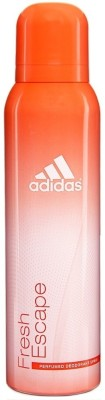 Buy Adidas Fresh Escape Deodorant Spray  -  150 ml: Deodorant