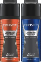 Denver Extreme Balance & Endurance Deo Combo (Pack Of 2) Deodorant Spray  -  For Men (150 Ml)
