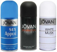 Jovan Sex Appeal Satisfaction White Musk For Men Body Spray  -  For Men (450 Ml)