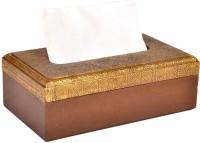 Jaipurcrafts Royal Rajasthan 1 Compartments Wooden, Brass Napkin Holder (Brown, Gold)