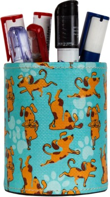 TheCrazyMe My Pet Best Friend 1 Compartments Eco-Friendly Leatherette Pen Stand (Multicolor)