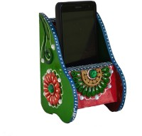 ECraftIndia ESR008 1 Compartments Papier-Mache Mobile Holder (Green, Pink)