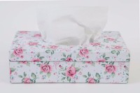 The Wishing Chair 1 Compartments Cardboard Enchanted Summer Tissue Box (White And Pink)