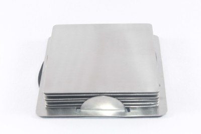 Clobber 6 Compartments Steel, Stainless Steel Coaster (Steel, Silver)