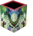 Mad(e) In India Peacock 1 Compartments Medium-density Fibreboard (MDF) Pen Stand - Multicolor