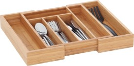 Howards Pha031h 7 Compartments Bamboo Cutlery Organiser