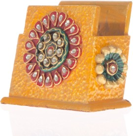 Smile2u Retailers Rajasthani 1 Compartments Wooden Mobile Holder