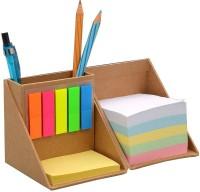 Ek Retail Shop Mutil 3 Compartments Card Broard Memo Pad & Tumbler (Multicolor)
