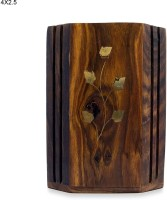 R S Jewels Holder 1 Compartments Wooden Pen Stand (Brown) - DKOEAHRFYEZWEKPY