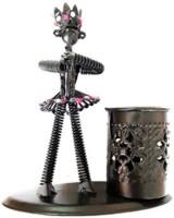 World's 1 Set 1 Compartments Iron Pen Stand (Black) - DKOEAGWVFNFEPKS7