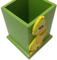 Shiv Kutumb 1 Compartments Wooden 1 Pen Stand (Green) - DKOECXA5RGCAAM8D