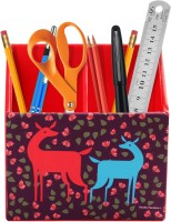 Studio Pandora Nature Series 2 Compartments PU Leather And MDF Wood Desk Organizer (Multicolour) - DKOE7T5DAGJQJNBG