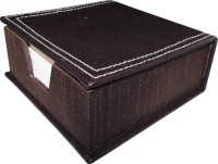 Indha Craft 1 Compartments MDF, Raxine Slip Box (Brown)