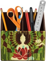 Studio Pandora Nature Series 2 Compartments PU Leather And MDF Wood Desk Organizer (Multicolour) - DKOE7T5DGZZCVQZA