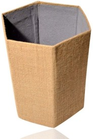 Indha Craft IC 100% Eco Friendly 1 Compartments Card Board, Jute Paper Bin - Khakhi