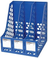 Y.E.S Tukins 3 Compartments Plastic Magazine Holder (Blue)