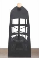 Big Impex 4 Compartments Iron Remote Stand (Black)