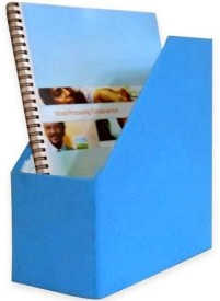 Indha Craft IC Recycled Paper 1 Compartments Card Board Magazine Holder - Blue