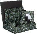 Rajrang Office Desk Organizer 11 Compartments Handmade Paper Multipurpose Tray - Green, Black