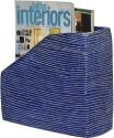 ExclusiveLane EL-007-013 1 Compartments Papier Mache Magazine Holder - Blue