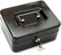 Imported IG19BLK 2 Compartments Iron Storage Box - Black