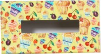 TheCrazyMe Cupcake 1 Compartments Eco-Friendly Leatherette Tissue Box Holder (Multicolor)