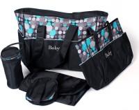 Baby Bucket 5pcs/set Baby Diaper Bag Purse (Black)