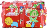 Ole Baby Multi Utility Jumbo Embroidery Picnic Print Tote Diaper Bag (Multicolor)