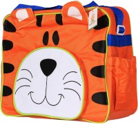 Ole Baby Attractive Applique Multipurpose,Amazing Printed Smart Organizer Best Material, Multi-function,WaterWproof And Washable Diaper Bag (Orange)