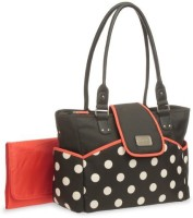 Baby Boom Carter's Dot Print Flap Tote Diaper Bag (Black, White, Red)