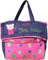 MyAngel Apple Print Tote Diaper Bag (Pink)