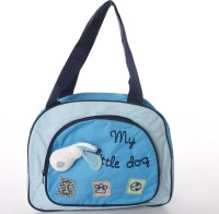 Baby Bucket Round Multiutility Cute Embroidered Diaper Bag Diaper Bag (Blue)