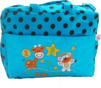Stuff Jam Advance Baby Polka Dot Print My Little Friends Diaper Bag Nursery Bag (Blue)