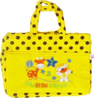 Stuff Jam Advance Baby Polka Dot Print My Little Friends Diaper Bag Nursery Bag (Yellow)