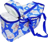 Ole Baby Premium Multi Purpose Joy Bunny Print With Warmer Tote Diaper Bag (Blue)