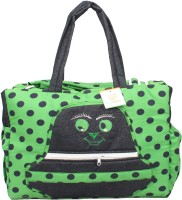 Ole Baby Big Multi-Utility Amazing Polka Dot Fabric Diaper Bag (Green)