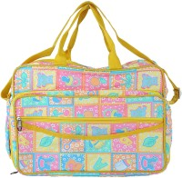 A Baby Multi Utility Nursery Messenger Diaper Bag (Yellow)