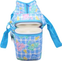 Ole Baby Cyan Premium Multi Color Teddy Checks Prints With Warmer Tote Diaper Bag (Blue)