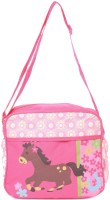 Baby Bucket Bebesitos Nursery Mummy Diaper Tote - Horse Print -Bag Purse (Pink)