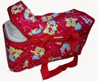 Babyofjoy Mix Cartoon Baby Print Tote Diaper Bag And Bottle Warmer Attached (Red)