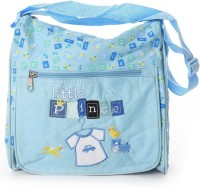 Baby Bucket Square Multiutility Cute Embroidered Diaper Bag Diaper Bag (Blue)