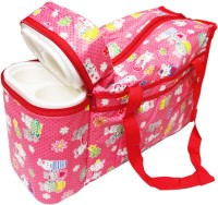Ole Baby Premium Multi Purpose Flora Print With Double Warmer Tote Diaper Bag (Red)