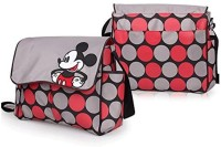 Baby Bucket Mickey Mouse Print Multi Travel Langer Diaper Bag (Grey)